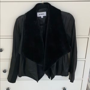 BB Dakota Leather and Faux Fur Collar Jacket